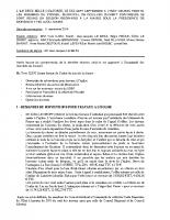 Conseil du 17 septembre 2014
